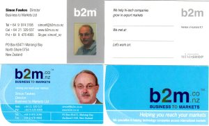 b2m business cards